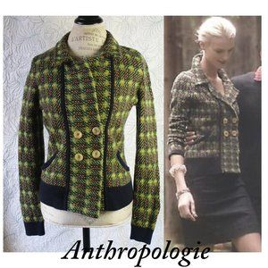 Anthropologie Sparrow Tweed Jacket Size M